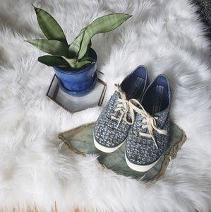 014a61e37899d Keds Shoes - KEDS Champion Botanical Leaves Chambray